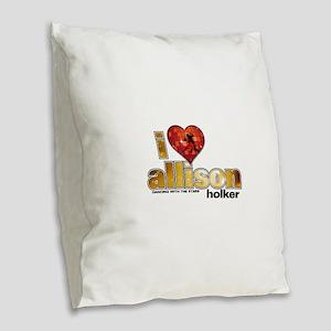 I Heart Allison Holker Burlap Throw Pillow