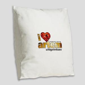 I Heart Artem Chigvintsev Burlap Throw Pillow