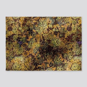 Golden floral 5'x7'Area Rug