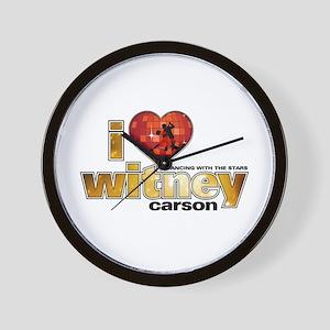 I Heart Witney Carson Wall Clock