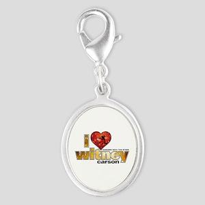 I Heart Witney Carson Silver Oval Charm