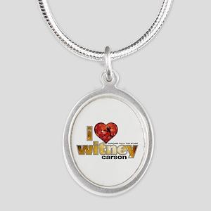 I Heart Witney Carson Silver Oval Necklace