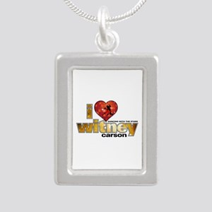 I Heart Witney Carson Silver Portrait Necklace