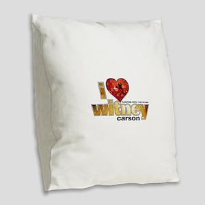 I Heart Witney Carson Burlap Throw Pillow