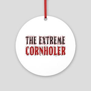 The Extreme Cornholer Ornament (Round)