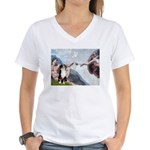 Creation - Australian Shep2 Women's V-Neck T-Shirt