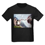 Creation - Australian Shep2 Kids Dark T-Shirt