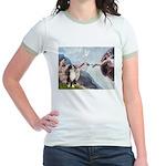 Creation - Australian Shep2 Jr. Ringer T-Shirt