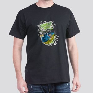 Trick 3 -White Line - The kook walk Dark T-Shirt