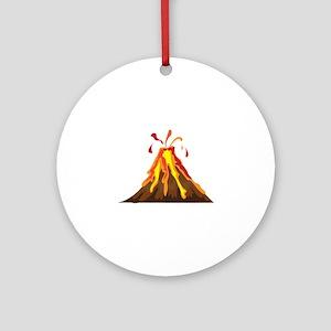 Volcano Ornament (Round)