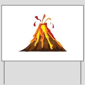Volcano Yard Sign