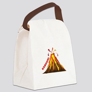 Volcano Kaboom Canvas Lunch Bag