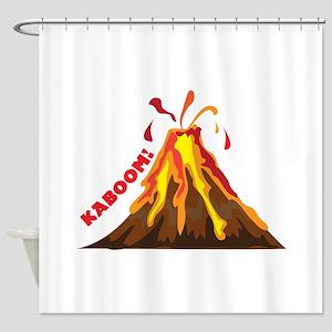 Volcano Kaboom Shower Curtain