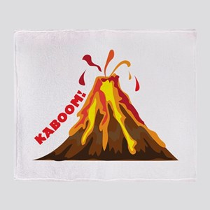 Volcano Kaboom Throw Blanket