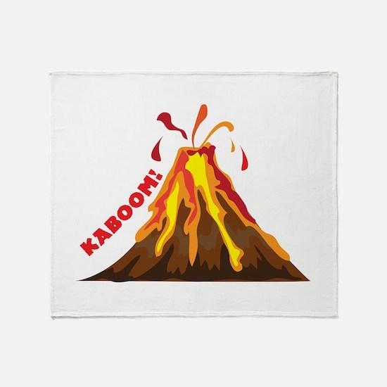Volcano Kaboom Throw Blanket