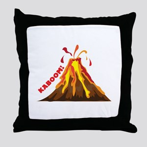 Volcano Kaboom Throw Pillow