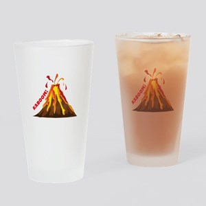 Volcano Kaboom Drinking Glass
