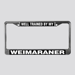 Well Trained By My Weimaraner