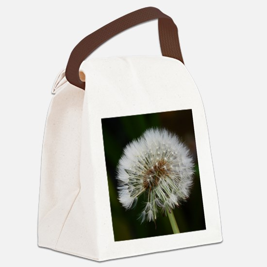 Cute Dandelion seeds blowing in the wind Canvas Lunch Bag