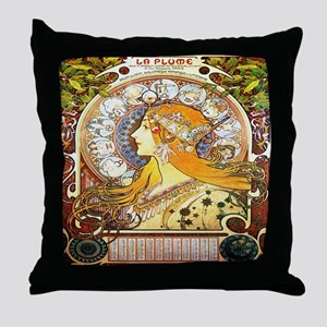Alfons Mucha 1896 Zodiac Throw Pillow