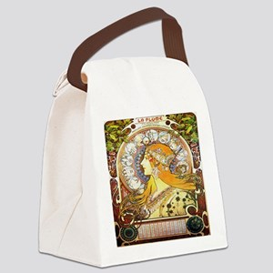Alfons Mucha 1896 Zodiac Canvas Lunch Bag