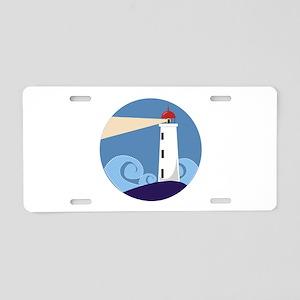 Lighthouse Aluminum License Plate