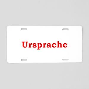 Ursprache Aluminum License Plate