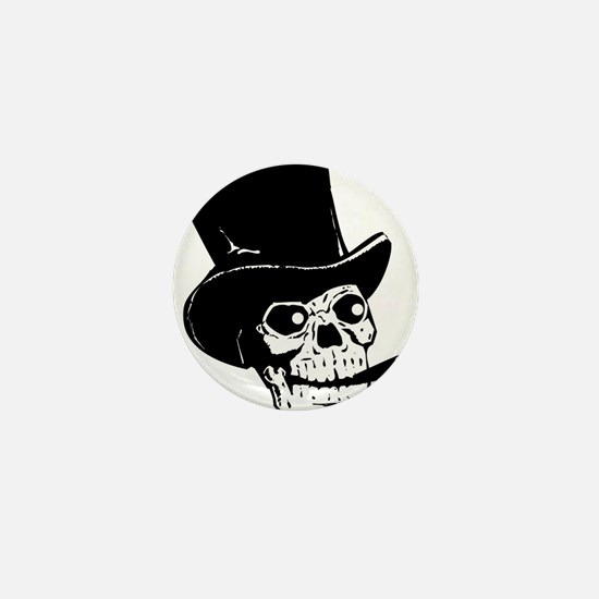 Funny Day of the dead skeleton Mini Button