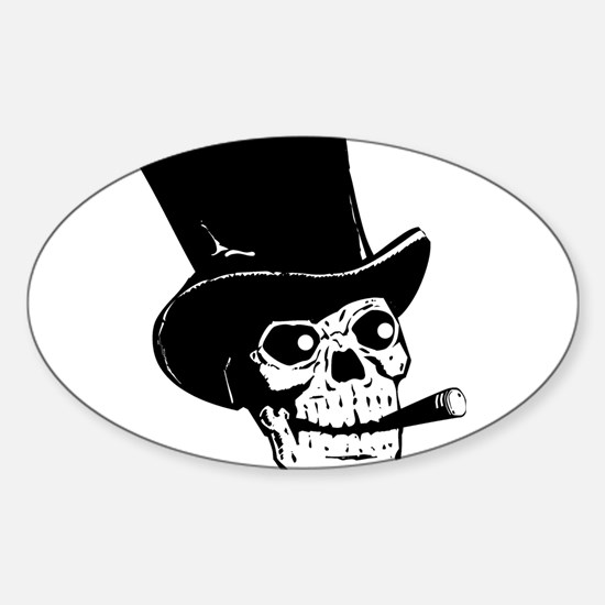 Black Skull Decal