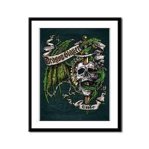 Dragon Slayer Crest Framed Panel Print