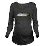 Spotted Seatrout 2c Long Sleeve Maternity T-Shirt