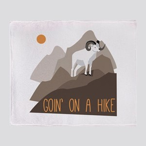 Goin on a Hike Throw Blanket