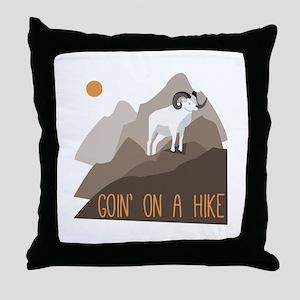 Goin on a Hike Throw Pillow