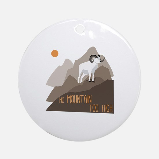 Mountain Goat Ornament (Round)