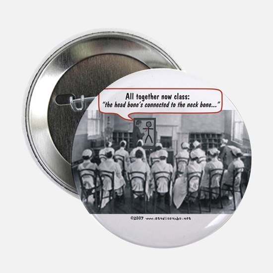 """All Together Now Nurses 2.25"""" Button"""