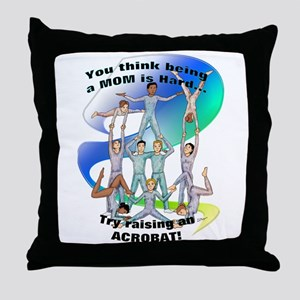 raising acrobat Throw Pillow