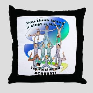 raising acrobat Throw Pillow