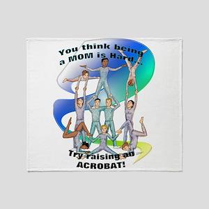 raising acrobat Throw Blanket