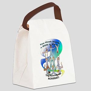 raising acrobat Canvas Lunch Bag