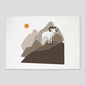 Mountain Goat 5'x7'Area Rug