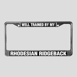 Well Trained By My Rhodesian Ridgeback