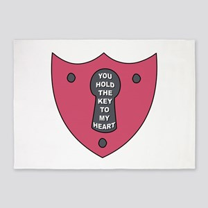 Key To My Heart 5'x7'Area Rug