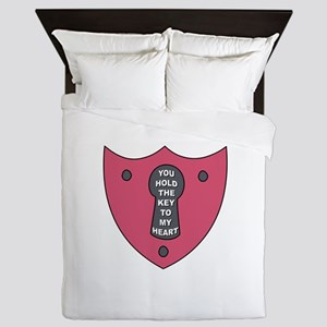 Key To My Heart Queen Duvet