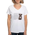 Pitbull Teach Me Protect Me Women's V-Neck T-Shirt