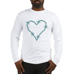 Barbed Wire Heart Long Sleeve T-Shirt