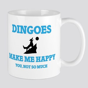 Dingoes Make Me Happy Mugs