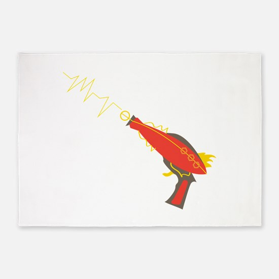 Laser Gun 5'x7'Area Rug