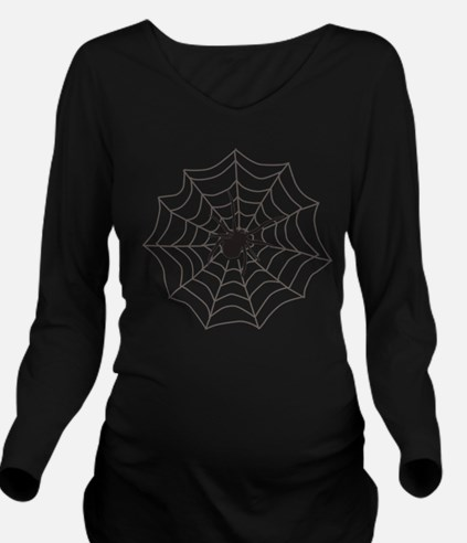 Creepy Crawly Spider Long Sleeve Maternity T-Shirt