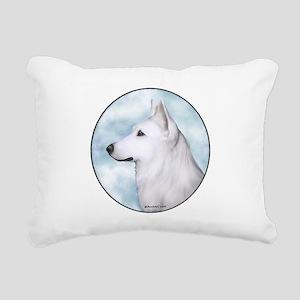 White Shepherd Rectangular Canvas Pillow