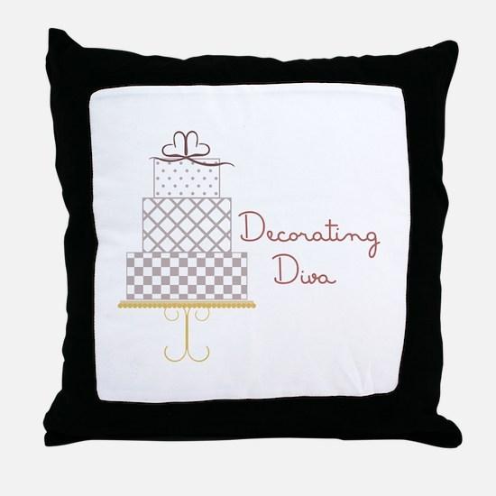 Decorating Diva Throw Pillow
